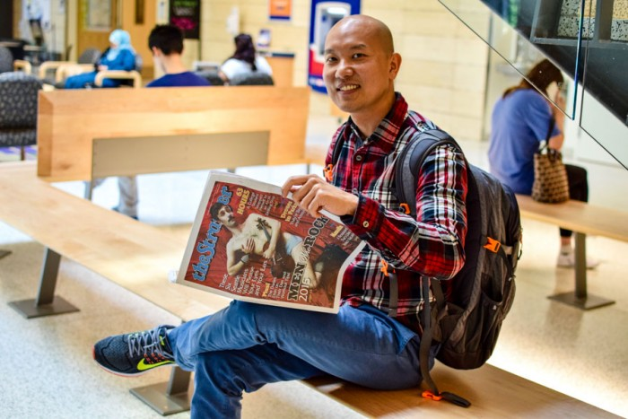 Sawatt Siriphadung, a graduate student from Thailand, is visiting the UW for up to one year through Thailand's Royal Golden Jubilee Scholarship. (Photo by Shirley Qiu.)