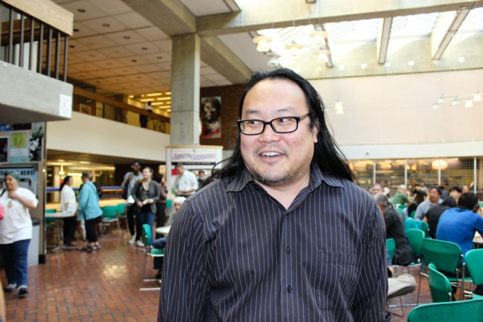 Ken Matsudaira, curator of M. Rosetta Hunter Art Gallery at Seattle Central. (Photo by Alia Marsha.)