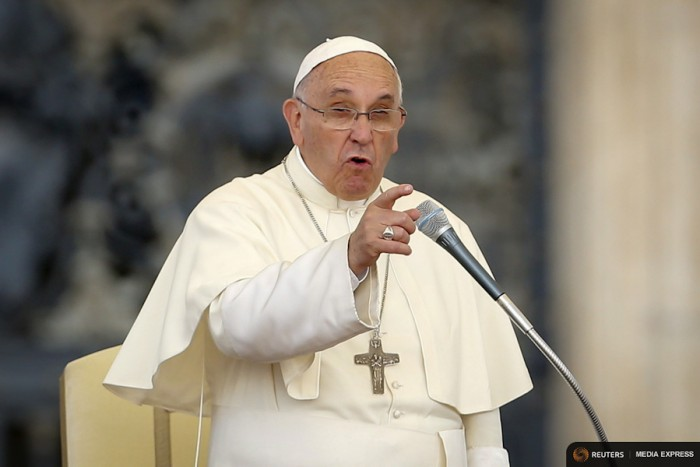 Pope Francis called out rich countries last week for driving climate change that will disprportionately impact the world's poor. (REUTERS/Giampiero Sposito)