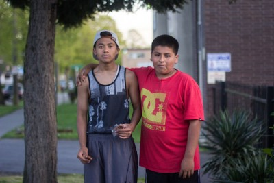 ​Miguel Cortes, 11 (right) George Ro, 14 (left)