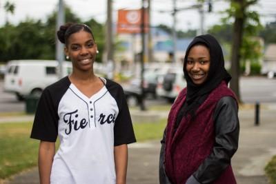 Nubia Simpson, 17 (left) and Omera Abdirahman, 16 (right)