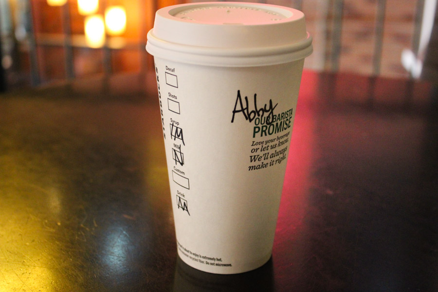 """This coffee was not for """"Abby."""" (Photo by Venice Buhain.)"""