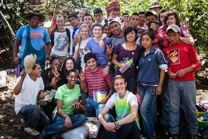 Reagan Jackson (upper left) with U.S. and Guatemalan Youth through Global Visionaries. (Photo courtesy Reagan Jackson.)