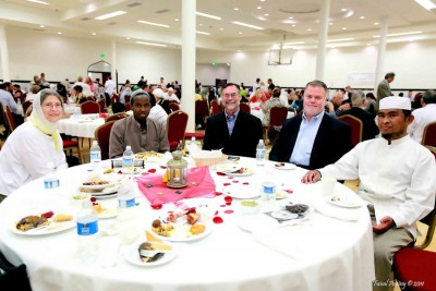 Local Muslims and friends at the MAPS + CAIR Interfaith Iftar in 2011 (Photo by Faisal Aminy)