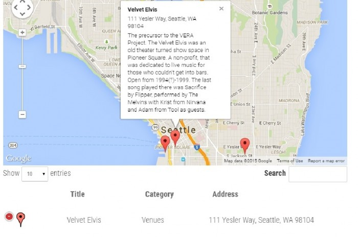Screenshot of the Ghosts of Seattle Past whose end product will be hand-drawn maps and an atlas.