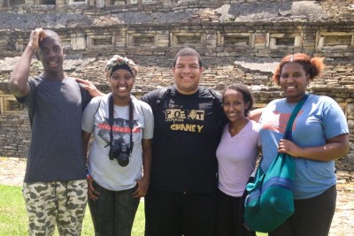 Zion, Azeb, Jordan, Eyerusalem Reagan at the Pyramids of El Tajin in Veracruz, Mexico. (Courtesy photo)