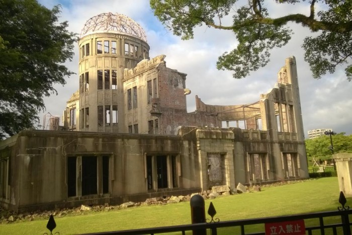The only building that remained standing after the bombing was preserved as a reminder of what happened and became the Hiroshima Peace Memorial. (Photo by Ed Pottharst)