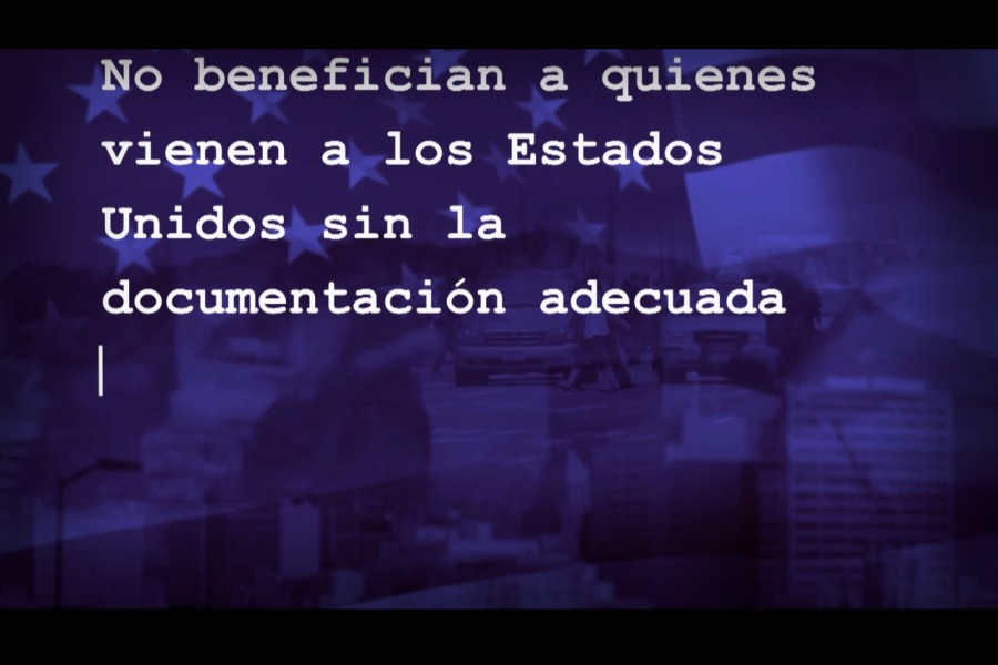 Screen shot of an ad that  U.S. Customs and Border Protection is running in Honduras as part of a campaign to discourage undocumented immigration. (Stilll of U.S. Customs and Border Protection video.)