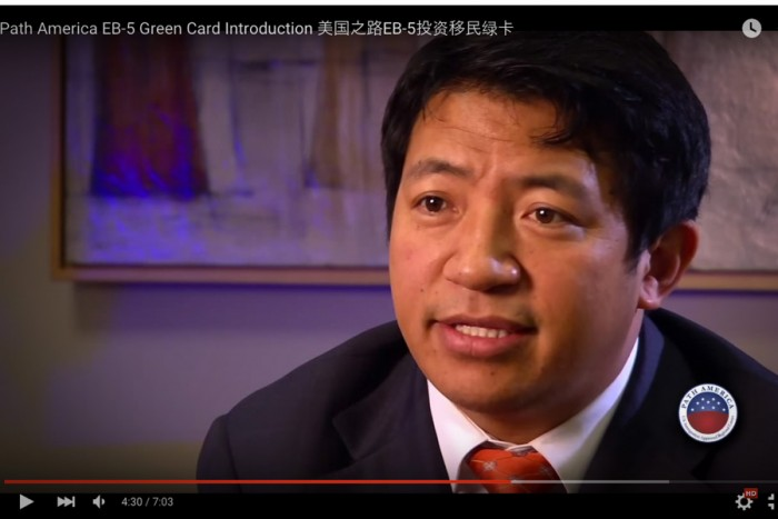 Lobsang Dargey in a video about Path America. (Screen shot of Path America YouTube video.)