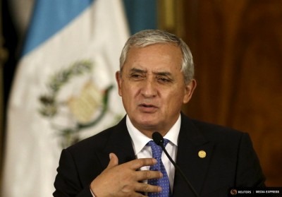 Guatemalan President Otto Perez Molina speaks during a news conference in Guatemala City in August. (Photo from REUTERS / Jorge Dan Lopez)