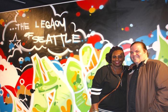 "MOHAI ""Legacy of Seattle Hip-Hop"" curators Jazmyn Scott and Aaron Walker-Loud."