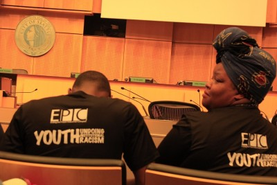 """End the Prison Industrial Complex(EPIC) group contributed input to the """"Zero Youth Detention"""" resolution. (Photo by Goorish Wibneh)"""