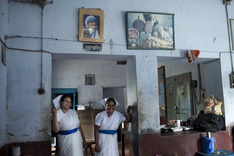 Bollobhpur Hospital nurses Shilpi and Nomina. The Church of Bangladesh runs the hospital with donations from across the globe. Photo: Chantal Anderson