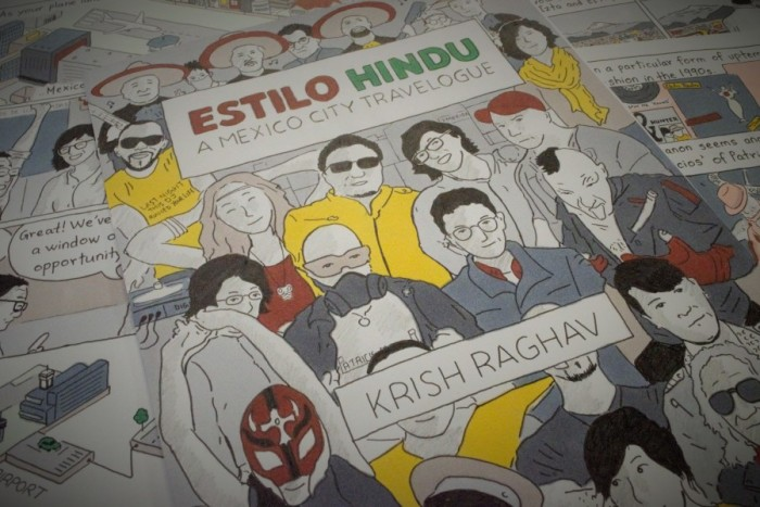 "Original pages from ""Estilo Hindu"" laid out. Short Run will be Raghav's first comic festival, but his comic and journalistic work has also been published in BBC News, National Geographic Traveller and GQ India. (Photo by Varisha Khan)"