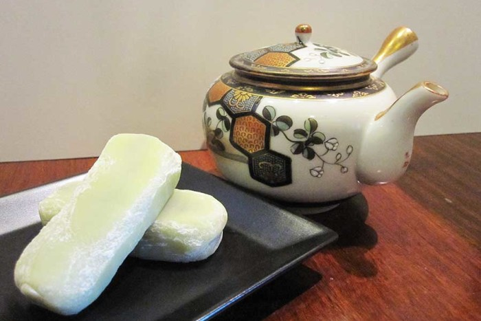 Japanese sweets will be served with tea on dish ware from Japan. (Photo by Virginia Wright)