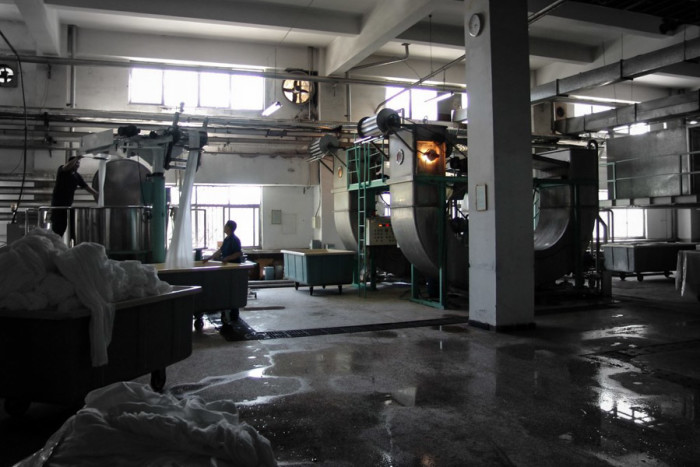 A Japanese-owned textile dyeing facility in the Tianjin Economic-Technological Development Area in Northeastern China. (Photo from Flickr by Matthew Stinson)