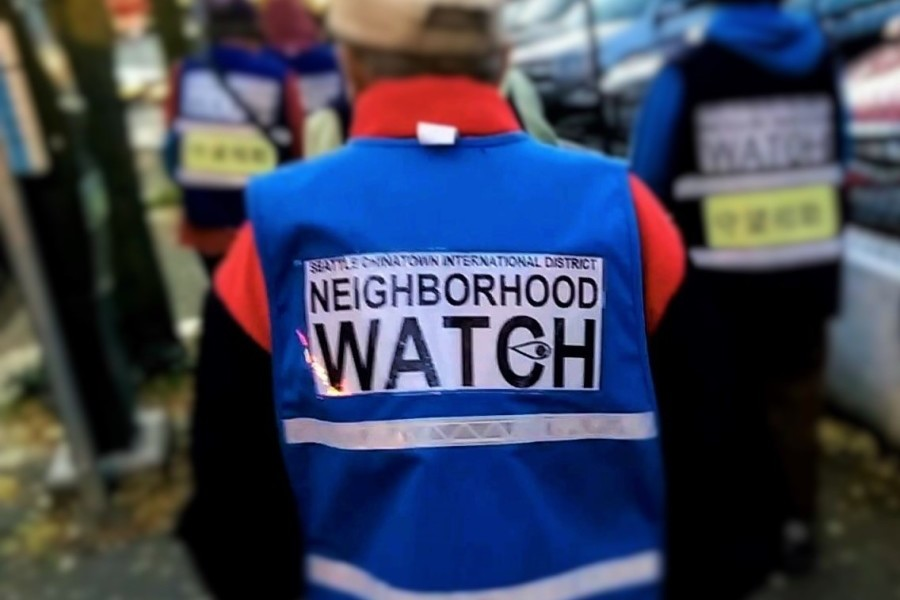 Seattle's Chinatown-International District Block Watch patrols the neighborhood every Tuesday. (Photo courtesy )