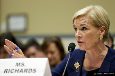 Planned Parenthood Federation president Cecile Richards testifies before the House Committee on Oversight and Government Reform on Capitol Hill last week. (Photo by REUTERS / Gary Cameron)