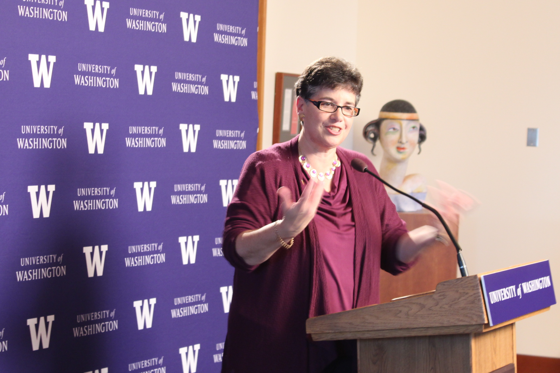 Ana Mari Cauce was selected to be the president of the University of Washington. (Photo by Venice Buhain.)