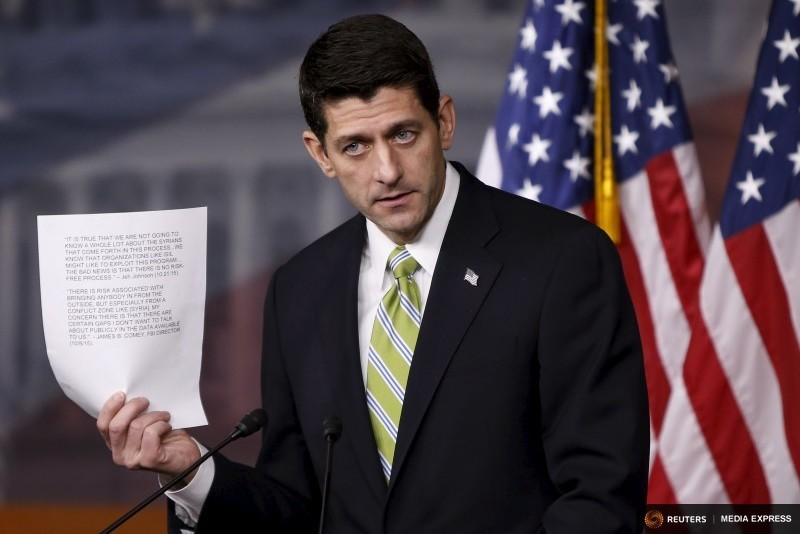 U.S. Speaker of the House Paul Ryan (R-WI) holds a news conference on Capitol Hill in Washington November 19, 2015.  Photo by Gary Cameron for Reuters)