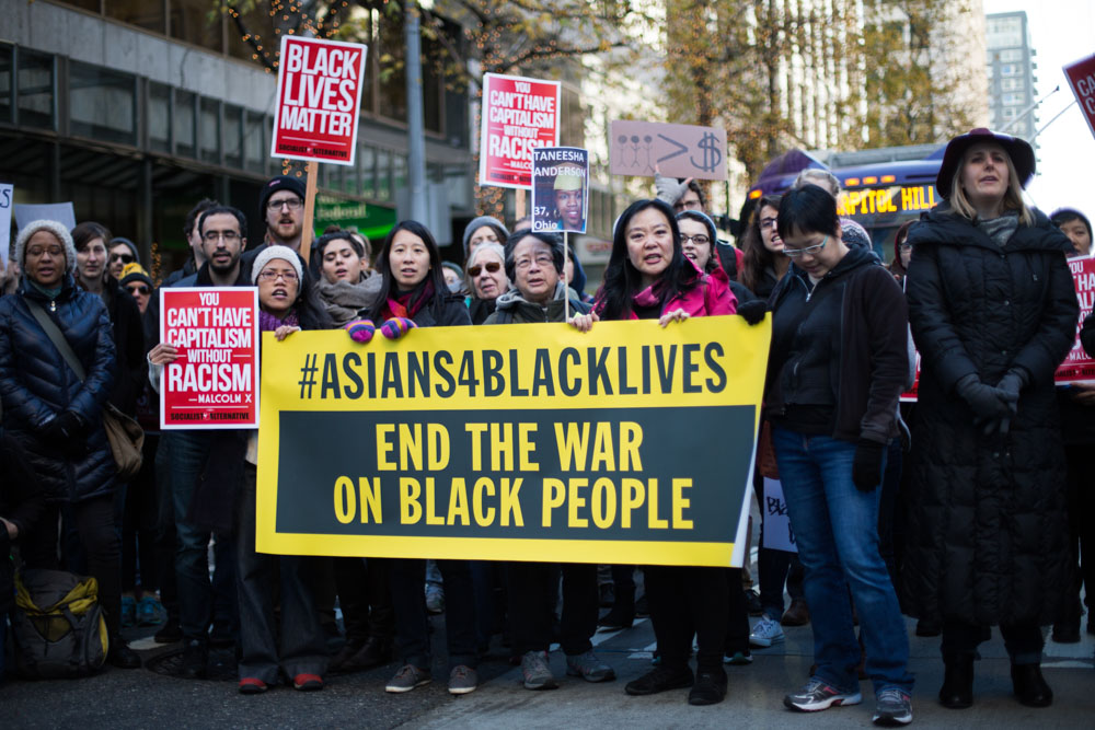 Seattle celebrates Black Lives Matter Friday. (Photo by Jama Abdirahman)