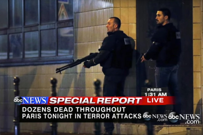 Breaking news of terror attacks like those in Paris carry an extra dimension of fear for Muslims. (Screenshot from ABC News)