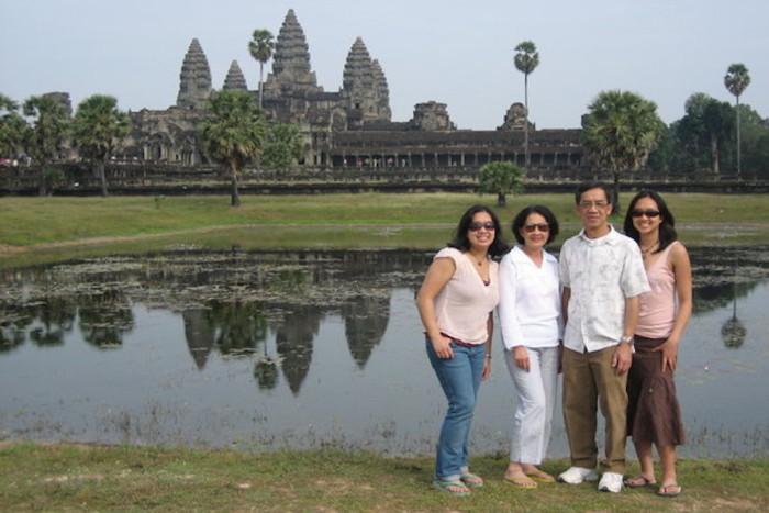 Pak family at Angkor Wat at Siem Reap. (Photo courtesy of Samantha Pak)