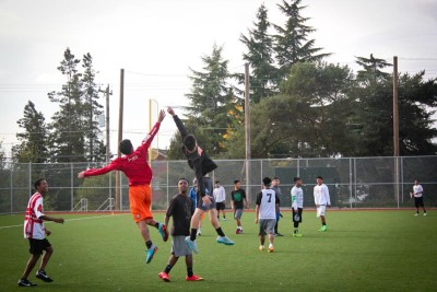 Success at Ultimate involves throwing, catching, jumping and running. But it also takes teamwork and a sense of community. (Photo by Ronnie Estoque)