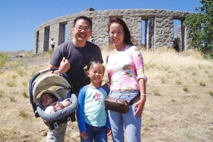 Aaron Wong (upper left) and his family. (Photo courtesy Aaron Wong.)
