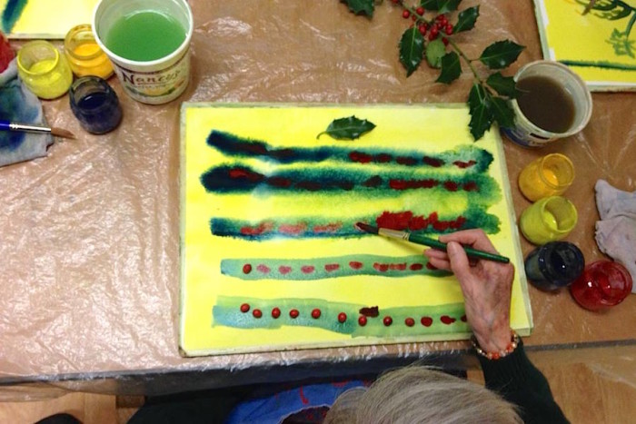 A class project with Elderwise around the holidays last December. (Photo from Elderwise Facebook page)