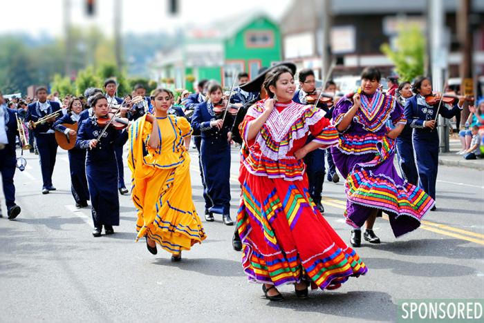 Fiestas Patrias at SeaMar South Park. (photo by Edgar Lopez)