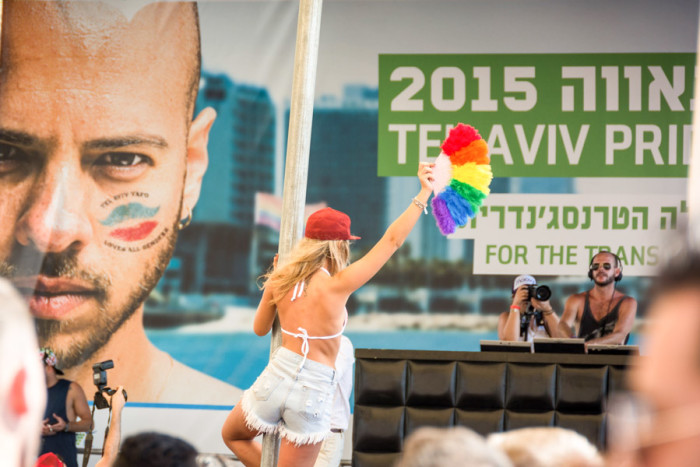 Seattle Mayor Ed Murray delivered the closing keynote at Tel Aviv's 40th anniversary pride celebration last year. (Photo from Flickr by Flavio)