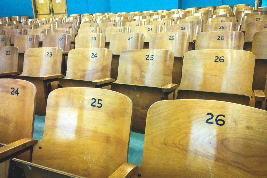 Chairs at Eckstein Middle School. (Photo from Flickr by Cory Doctorow)
