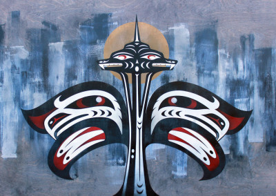 """Our Home"" by Louie Gong(Nooksack), 2015."