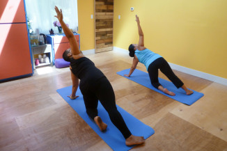 Classes at the now disbanded POC Yoga in Rainier Beach. (Photo by Eric McDaniel)