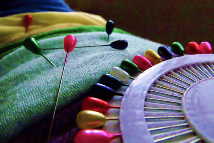 Pins used to secure hijab. (Photo from Flickr by Yasmeen)