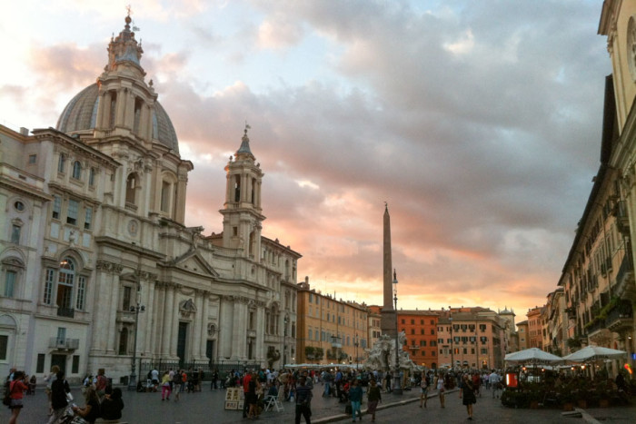 Piazza Navona in Rome. (Photo by Katy Sewall.)