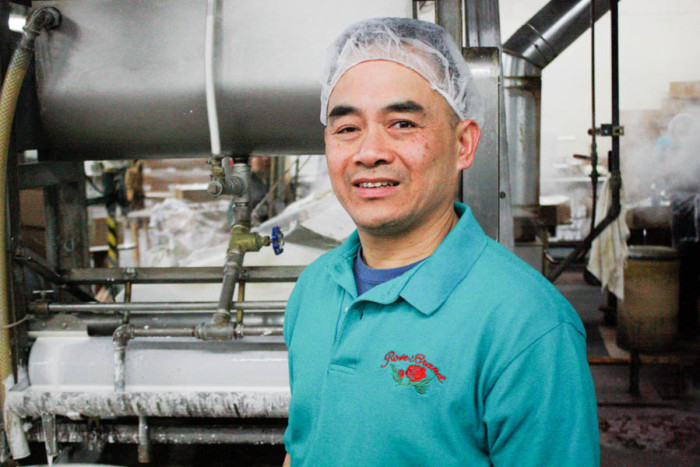 Tim Louie is the fourth-generation owner of Tsue Chong Co., a noodle and fortune cookie company in Seattle's International District. (Photo by John Stang.)