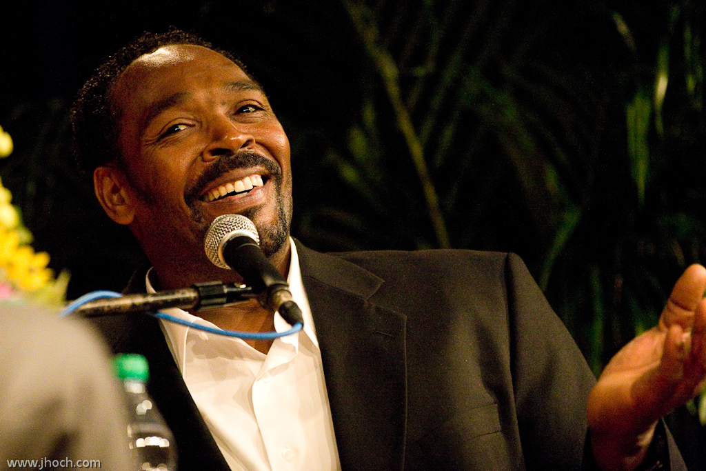 Rodney King in April 2012 during a Hudson Union Society event at The Players Club in New York City. (Photo by Justin Hoch, republished from Wikimedia under a Creative Commons 2.0 license)