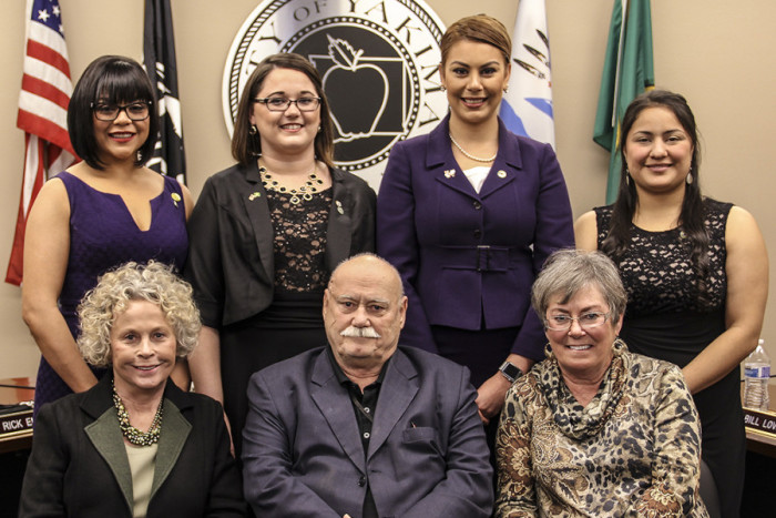 The Yakima City Council in 2016. (Photo by the city of Yakima.)