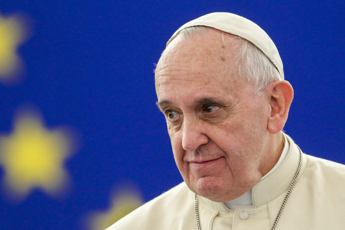 Francis in 2014. (Photo by European Union/European Parliament via Martin Schulz Flickr.)