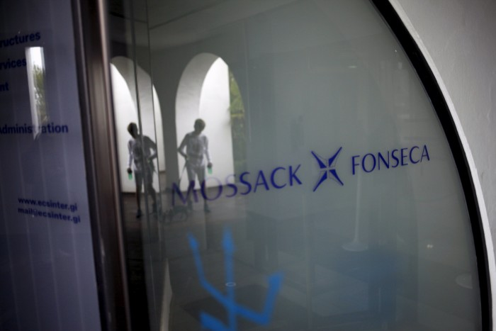 Mossack Fonseca law firm sign is pictured at the Neptune House building in the British colony of Gibraltar, April 4, 2016. (Photo by Jon Nazca for Reuters.)