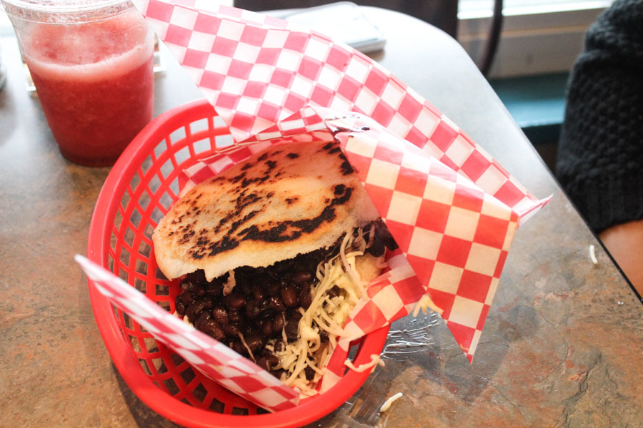 The delicious Venezuelan staple that gave Arepas its name. (Photo by Elizabeth Alvarado)