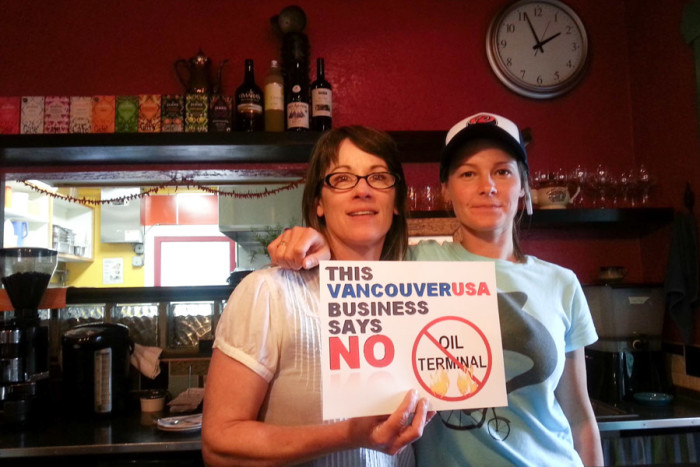 One of the crowd sourced photos from the Vancouver 101 campaign of businesses and citizens opposed to the oil terminal. (Courtesy photo)