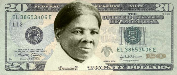 Artist rendering of Harriet Tubman on a $20 bill. (Illustration by Women on 20s.)
