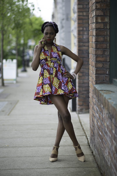 Open back dress from Aburu Fashion House's spring mini collection. (Photograph courtesy of James Casson of Visual Passion Photography)