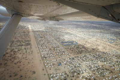 A flyover shows the startling scope of the Dadaab Refugee Camp, one of several Kenya plans to close. (Photo by Andy Hall / Oxfam International)