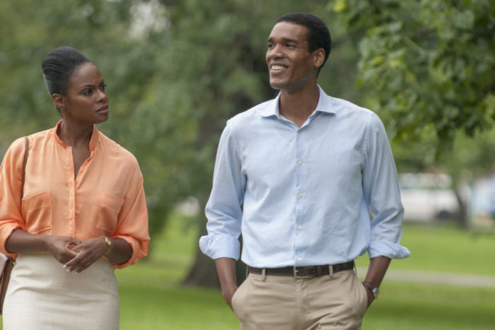 "Tika Sumpter (left) and Parker Sawyers play Michelle Robinson (known today as Michelle Obama) and Barack Obama in ""Southside with You."" (Photo courtesy SIFF)"