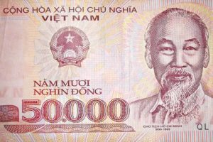 Vietnamese currency honoring Ho Chi Minh. (Photo from Flickr by David Holt)