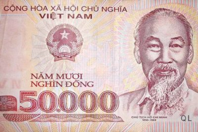 Vietnamese bill featuring Ho Chi Minh (Photo from Flickr by David Holt)